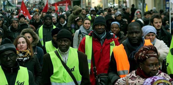 Les Salaries D Onet Ont Manifeste A Saint Denis
