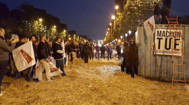 Opération coup de poing des agriculteurs sur les Champs-Elysées — Glyphosate