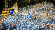 Barcelone, manifestation, Catalogne
