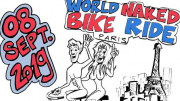 Vélorution, naked bike ride, vélo nu, naturiste