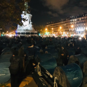 Utopia, migrants, place de la République